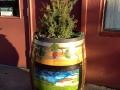 Wine Barrel Planter