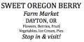 Sweet Oregon Berry