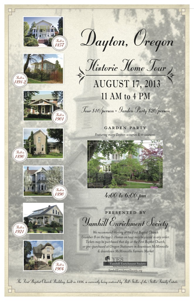 Dayton home tour poster
