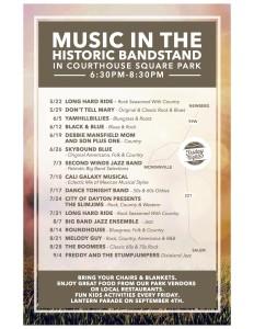 Concert Schedule flyer