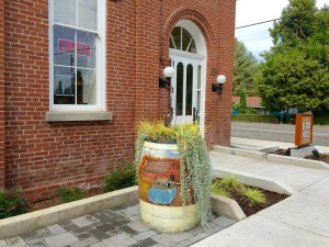 Art Barrel Planter