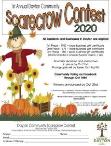 1st Annual Dayton Community Scarecrow Contest